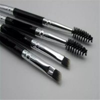 Wholesale A1 Wood - Duo Brush #12 #7 #15 #20 Makeup Brushes Synthetic Duo Brow Eyebrow Makeup Brushes Kit Pinceis Factory Wholesale N a1-8