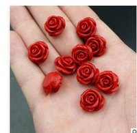 Wholesale Authentic A cargo natural roses are scattered beads vermilion cinnabar rose accessories accessories manufacturers spot