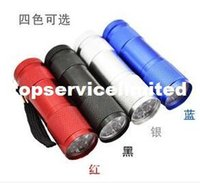 Wholesale Nature Series - Led Light Series 4 Colors LED Camping Torch Flashlights 9 LED Torch 300LM Mini LED Flashlight Lamp 3AA Battery Powered Torches Good Lighting