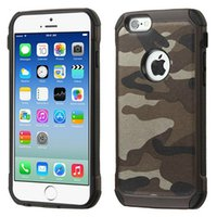 Wholesale Tpu Pc Iphone5 - For iphone 6 6s cell phone cases TPU+PC army camo luxury camouflage 2 in 1 hybird back cover for iphone5 5s 6 6s 6plus,sumsung s6 note4 5