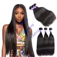 Wholesale Mongolian Russian Mix - Grade 8A Badshop Brazilian Straight Hair Unprocessed Brazilian Virgin Human Hair Weave Bundles 100% Brazilian Vrgin Hair Straight