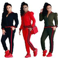 Wholesale Long Coat Pant Suits Plus Size - Spring Autumn Tracksuit Women's Sets Jackets+pants Casual Lady's Sportsuit Long Sleeve Coat Trousers Womens Suits Two-piece Sets Plus Size