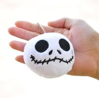 Wholesale Nightmare Before Christmas Cartoon - Nightmare Before Christmas Jack Plush Toys 8cm plush bag pendant ornaments Halloween cartoon doll