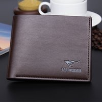 Wholesale Leather Animal Suits - Wholesale For Men Short Wallet Men's Casual Fashion Simulation Leather Wallet Men Wallets Purse Suit Bags Designer Wallet Free Shipping