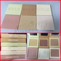 Wholesale Highlighter Face - Kylighter Kylie Cosmetics Highlighter Bronzers BANANA SPLIT & FRENCH VANILLA & COTTON CANDY CREAM & STRAWBERRY SHORTCAK Kylighters Face Glow