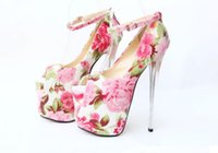 Wholesale 19 Cm High Heels - 19 new cm ultra crystal with waterproof high-heeled shoes 1 kinds of color printing fish mouth