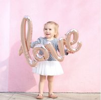 Wholesale Champagne Prop - Ligatures LOVE Letter Foil Balloon Anniversary Wedding Valentines Birthday Party Decoration Champagne Cup Photo Booth Props