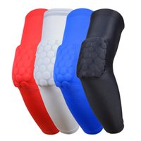 Wholesale Shooting Sports Wholesale - Crashproof Sport Flexible Basketball Shooting Arm Sleeve Support Elbow Pad Support Honeycomb Pad Cycling Protect Sports Safety Free Shipping