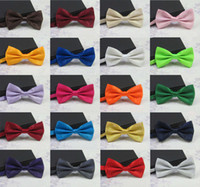 Wholesale Tuxedo Tie Free Shipping - Men's Fashion Tuxedo Classic Mixed Solid Color Butterfly Wedding Party Bowtie Bow Tie Pre Tied Free shipping LD8006