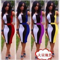 Wholesale Velour Robes - Women night club dress vestidos plus size sexy dresses plus size robe cheap summer patchwork party dress yellow red purple blue dresses