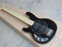 Wholesale Change Leaves - Free Shipping-5-String Left-hand Electric Bass with Black Body and 21 Frets,2 Open Humbucker Pickups,Can be Changed