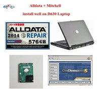 2017 Top Rated Car Repair Software con Laptop Alldata 10.53 + Mitchell bajo demanda 2015 instalado bien en D630 Soporte para laptop wins7