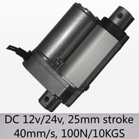 Wholesale Max mm s speed n kgs load mini linear actuator with quot mm stroke dc v and v