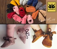Wholesale fashion handmade Baby Boys girls tassel soft Shoes infant toddler Newborn kids Mocc Shoes First Walkers Baby kids leather Moccasins