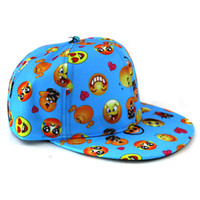 Wholesale Girls Snapbacks Hats - Cartoon QQ Emoji Cap Kids Baseball Caps Snapbacks Children Hip Hop Hats Girls Sport Ball Hat Boys Snapback Baby Gifts 2016 New 5colors
