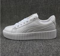 Wholesale Lady Star Toe - 2017 Rihanna x Suede Creeper Black Star White Black Women Men Casual Shoes, Fashion Ladies Rihanna mens shoes sneakers 36-44