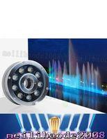 Wholesale 18w 24v Underwater Lamp - Underwater Fountain Light LED 6W 9W 12W 15W 18W IP68 LED light swimming pool Lamps RGB LED fountain lights 12V 24V 110V 220V LLFA
