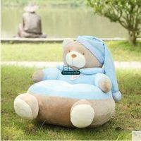 Wholesale baby sofa toys - Dorimytrader 55cm X 55cm Giant Stuffed Soft Plush Cartoon Bear Kids Sofa Toy 2 Colors Nice Baby Gift Free Shipping DY61039