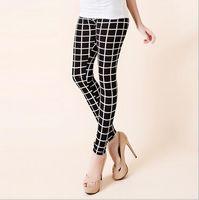 Wholesale Milk Silk Leggings - Europe New Fashion Bottoming Feet Pants Slim Woman Pencil Pants Skinny Colorful Print Leggings Milk Silk Floral Capris Trousers