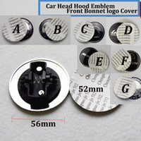 Wholesale Car Bonnets - 1pcs Head covers 56mm 52mm stickers Hood car Emblem logo Front Bonnet Badge cover STAR W211 W203 W204 W124 W201 AMG W202 W212 W220 W205 GLA