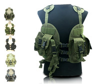 Wholesale Navy Seal Vests - US Navy Seal tactical sports vest CQB LBV Modular Tactical Assault Vest 6 colors free shipping