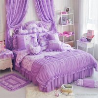 Wholesale Quality Silk Comforter Set - Luxury bedding set Good quality Silk princess bed Cotton duvet cover sets for girls and womens beautiful gifts