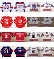 Wholesale Quick Cut - Personalized OHL Oshawa Generals Jersey 26 Shane Doyle 6 Jimmy McDowell 88 Eric Lindros Mens Womens Kids Stitched Hockey Jerseys Goalit Cut