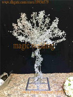 Wholesale Wedding Tree Centerpiece Crystal - 90cm tall crystal tree with hanging crystal bead of event party decoration wedding centerpiece