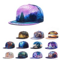 Wholesale 3d Swag Hat - Street casquette 3D print Thermal transfer stitching dance hip hop hats Gorras baseball caps swag trucker Ghost snapback cap