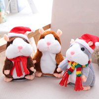 Wholesale Hamster Stuff Toy - 6 Styles 16cm 6 inch Hamster Plush Toys Cartoon Can Talk and Nod Hamster Stuffed Animals for Baby Christmas Gift CCA7835 100pcs
