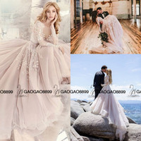 Wholesale Embroidered Plus Sized Wedding Dresses - Long Sleeve Rococo Bridal Gown Beaded And Embroidered Bodice Hayley Paige 2016 Tulle Skirt Beach Party Wedding Dresses