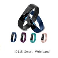 ID115 Smart Bracelet Fitness Tracker Step Counter Activity Monitor Band Relógio Despertador Vibração Wristband para iphone Telefone Android OTH639