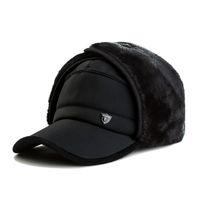 Wholesale Fur Ear Flap Hats - Super Warm Winter Baseball Cap for Men Faux Fur Snapback With Ear Flaps Cotton Men Dad Hat Earflaps Snowing Caps Bones MX17246