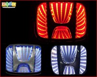 Wholesale 3d Logo Lights - Red Blue White 2 size 3D Laser LED Emblem Car Badge Front Rear Logo Lighting case for Honda Accord CRV Civic ...etc