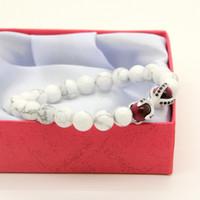 perlen rosa armband großhandel-1 STÜCKE Naturstein Mit Rose Tiger Eye Perlen Micro Inlay Schwarz CZ Perlen Adler Klaue Perlen Armbänder
