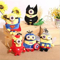 Wholesale Despicable Stuffed Animals - 20cm Plush Toys 3D Despicable Me Eyes Toys Kawaii yellow Doll Plush Stuffed Animals Toys For Kids Christmas Birthday Gifts