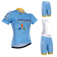 Wholesale Cycling Jersey Bib Shorts Astana - Pro Team Astana Blue 2016 Cycling Jersey Sets Summer Short Sleeve Men Cycling Clothes Bib Shorts Suit Ciclismo Ropa