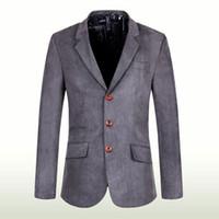 Wholesale Long Suit Coats For Men - 2017 New Mens Blazer Spring Fashion Suits For Men Top Quality Blazers Slim Fit Jacket Outwear Coat Costume Homme Blazer Men