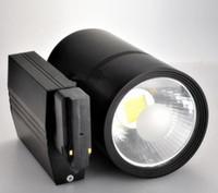 venta de luces de pista al por mayor-Venta caliente LED Track Light 30W COB Rail Lights Spotlight Igual 300W Lámpara halógena Tienda de ropa Zapatería AC85 ~ 265V Blanco frío natural cálido