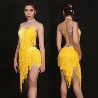 Wholesale Sexy Schoolgirl Dress - 2017 Girl Latin Dress Sexy Tassel Skirt Dancewear For Children Newest Beauty Kid Student Schoolgirl Ballroom Dance Costumes 1191