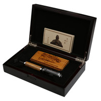 "Wholesale Duke Fountain Pens - Duke Classic ""Confucius"" Series Bamboo Metal 0.7mm Iridium Nib Fountain Pen with Luxury Original Gift Box Ink Pens for Gift"