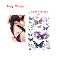 Wholesale Tattoo Fashion Arm Women - 2017 Sexy Colorful Fashion Temporary Tattoo Stickers Body Art Pattern for women