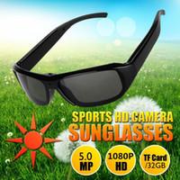 Wholesale Dv Dvr Sunglasses - 1080P HD Fashion Sunglasses Spy Camera Hidden Camcorder Cam DV DVR Video Recorder