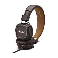 Wholesale Stereo Dj Headphone Black - Marshall Major Headphone Noise Cancelling Headset Mic Deep Bass DJ HiFi Earphones Professional DJ Monitor Headphones with Retail Box