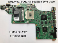 Mini-ITX Intel SATA High quality laptop motherboard for HP Pavilion DV6-3000 630279-001 HM55 PGA989 Support I3 I5 CPU HD5650 1GB 100% Fully Tested