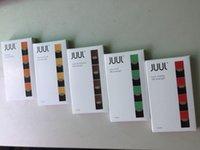 Wholesale E Cig Refillable - New High quality e cig JUUL cartridge for juul vape pen 4 pods in a box refillable cartridge
