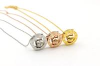 ingrosso gioielli romani di marca-marchio in acciaio inox numeri romani 2 cerchi amore collana pendente per le donne uomini cristalli catena migliore regalo gioielli