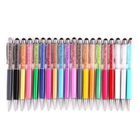 Wholesale Touch Galaxy Nexus - Bling Crystal Diamond Screen Capacitive Screens Touch Stylus Ball Point Pen For Apple IPad Nexus 7 Galaxy Tablet Kindle Cell Phones