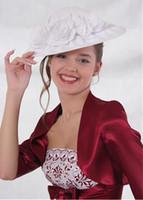 bolero ceket balo elbiseleri toptan satış-Kız Parti Elbise Burunları Için balo Ceketler Yeni Bordo Gelin Ceket Saten Gelin Şal Düğün Boleros Omuz Silkme Wrap 3/4 Uzun Kollu