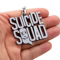 2017 Hot Suicide Squad Keychain Alloy Metal Porte-clés Boys Girls Movie Action Figure Porte-clés Cadeau